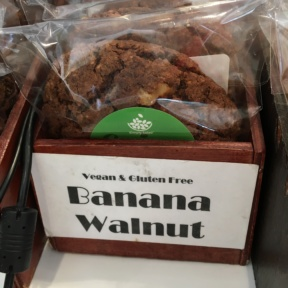 Gluten-free banana walnut cookie from Simply Salad