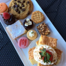 Gluten-free dessert platter from Sinners and Saints Desserts