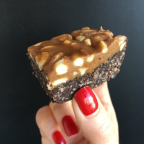 Gluten-free peanut bar from Sinners and Saints Desserts