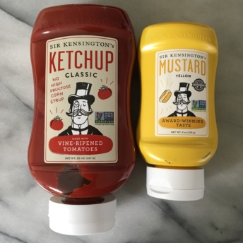 Gluten-free ketchup and mustard from Sir Kensington's