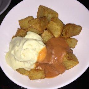 Gluten-free patatas bravas from Socarrat