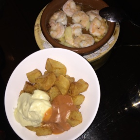 Gluten-free shrimp and patatas from Socarrat