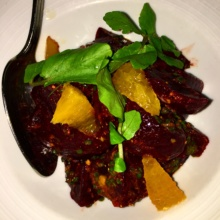 Gluten-free beets from Sotto 13
