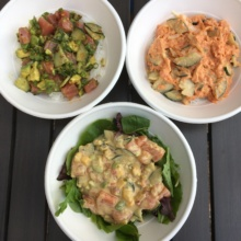 3 Gluten-free poke bowls from Spinfish Poke House