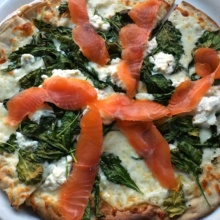 Gluten-free lox pizza from Spris Pizza