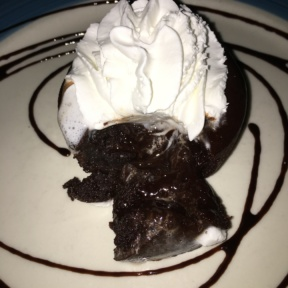 Gluten-free flourless chocolate cake from Spris Pizza