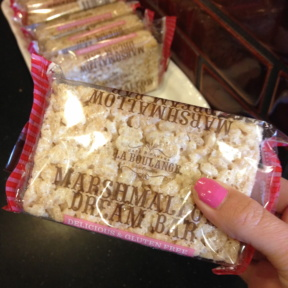 Gluten-free marshmallow dream bar from Starbucks