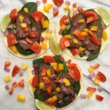 Gluten-free Steak Tacos with extra peppers