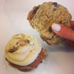 Gluten-free cookie and cupcake from Sun in Bloom