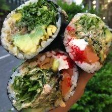 Gluten-free sushi burrito from Sushi-teria