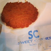 Gluten-free peanut butter cookie from Sweet Corner Bakeshop