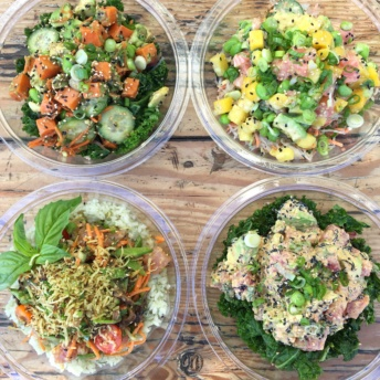 4 types of Gluten-free poke from Sweetfin Poke