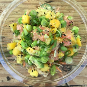 Gluten-free salmon poke from Sweetfin Poke
