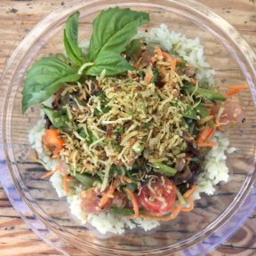 Gluten-free poke with rice from Sweetfin Poke