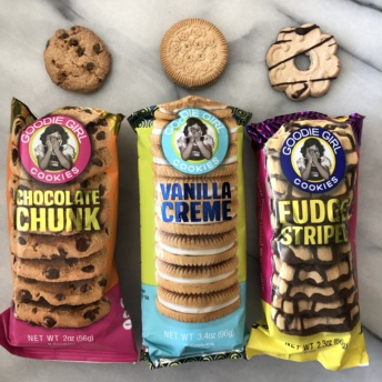 Packs of gluten-free cookies from Goodie Girl Cookies