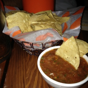 Gluten-free chips and salsa from Tacolicious