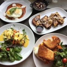 Gluten-free brunch spread from Taste on Melrose