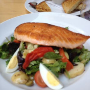 Gluten-free salmon salad from Tavern 29