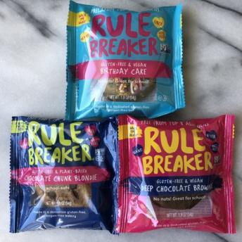 Gluten-free blondies and brownies from Rule Breaker Snacks