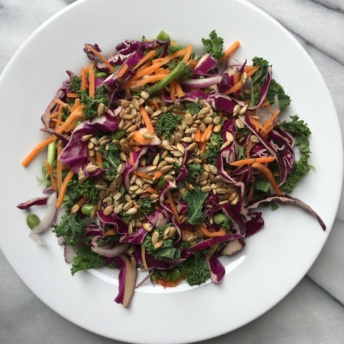 Gluten-free vegan kale salad from Terra's Kitchen