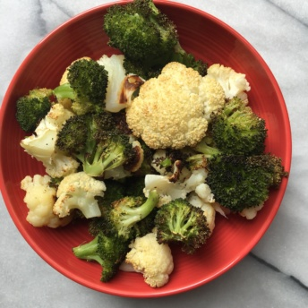 Roasted broccoli and cauliflower from Terra's Kitchen