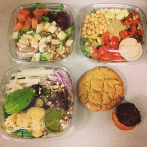 Gluten-free salad and dessert spread from Terri