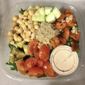 Gluten-free vegan salad from Terri