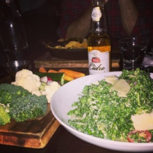 Gluten-free salad and cider from The Ainsworth