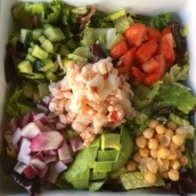 Gluten-free lobster salad from The Albright