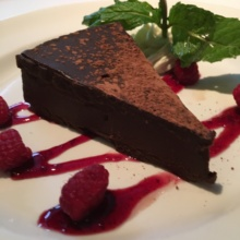 Gluten-free flourless chocolate cake from The Capital Grille