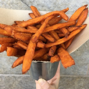 Gluten-free sweet potato fries from The Counter Burger