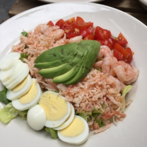 Gluten-free seafood Cobb salad from The Dubliner