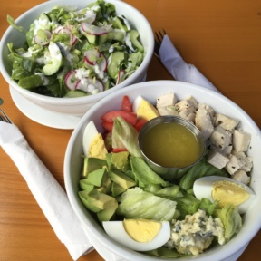 Gluten-free salads from The Growler