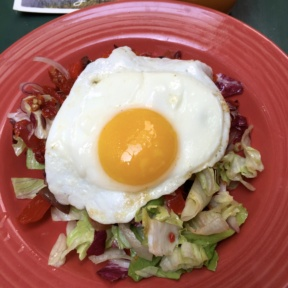 Gluten-free salad with egg from The Happiest Hour