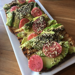 Gluten-free avocado toast from The Hive