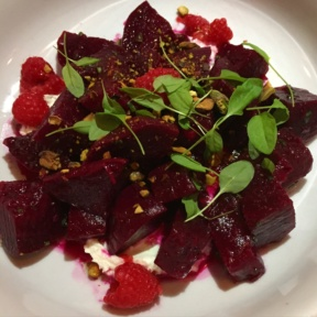 Gluten-free beets from The Library at the Public