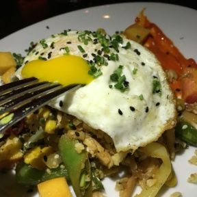 Gluten-free egg dish from The Misfit Restaurant + Bar