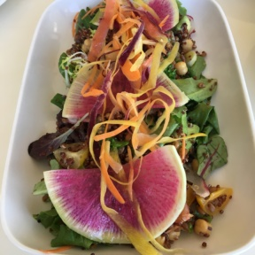 Gluten-free quinoa salad from The Penthouse at Huntley Hotel