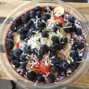 Gluten-free acai bowl from The Poke Shack