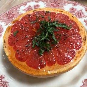 Gluten-free bruleed grapefruit from The Tasting Kitchen
