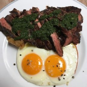 Gluten-free steak and eggs from The Tasting Kitchen