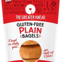 Gluten-free plain bagels from The Greater Knead