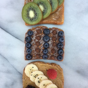 Three Toasts with Three Nut Butter