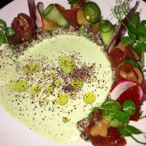 Gluten-free beet appetizer from Timna
