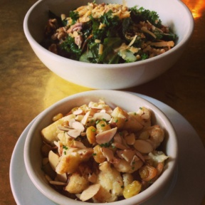 Gluten-free salad and cauliflower from Tiny's and the Bar Upstairs