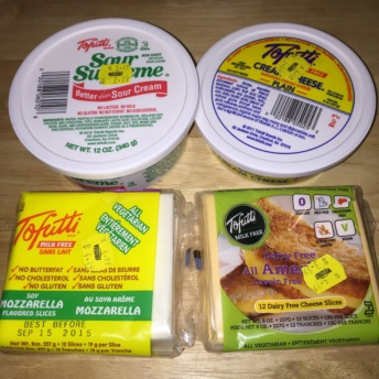 Gluten-free and dairy free cheese by Tofutti Foods