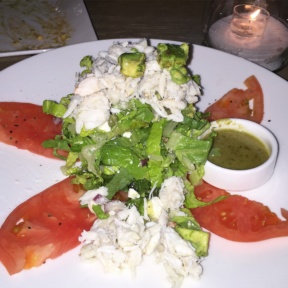 Gluten-free crab salad from Tommy Bahama Restaurant & Bar