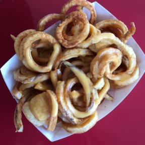 Gluten-free curly fries from Top Round Roast Beef