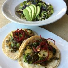 Gluten-free tacos and salad from Tortilla Republic