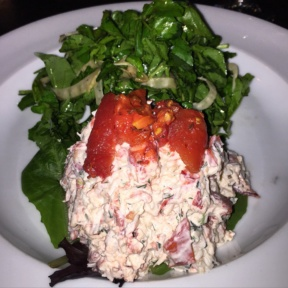Gluten-free lobster salad from Trinity Place Bar & Restaurant